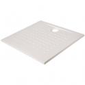 Receveur de douche carré blanc - 90 x 90 cm - Resisol - Créazur