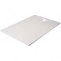 Receveur de douche rectangulaire blanc - 120 x 80 cm - Resisol - Créazur