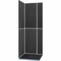 Kit receveur de douche carré complet - 90 x 90 cm - Shower Kit - Wedi