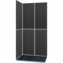 Kit receveur de douche rectangulaire complet - 120 x 90 cm - Shower Kit - Wedi