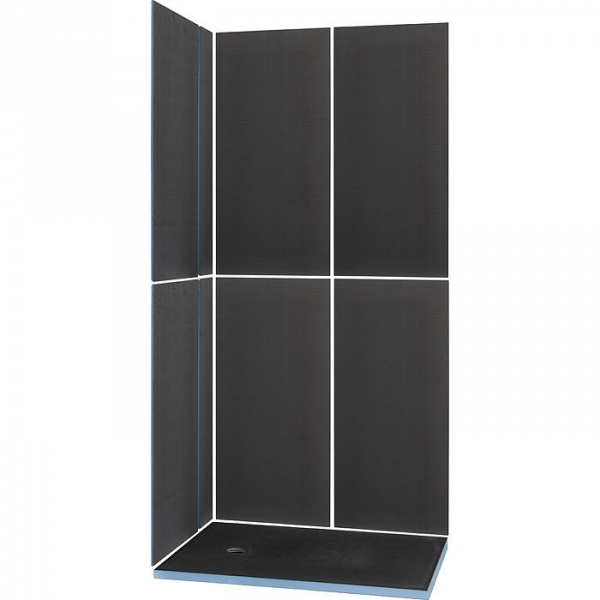 kit receveur de douche rectangulaire complet 120 x 90 cm shower kit wedi cazabox. Black Bedroom Furniture Sets. Home Design Ideas