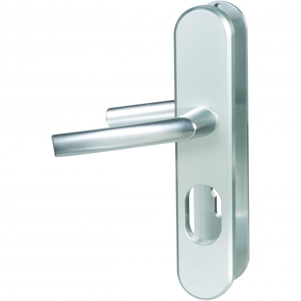 poign e de porte sur plaque blind aluminium cl i osmose a2p bricard cazabox. Black Bedroom Furniture Sets. Home Design Ideas