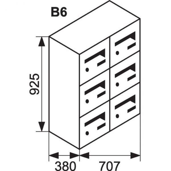 bloc bo te aux lettres collective ext rieur b6 sur pieds languedoc standard decayeux cazabox. Black Bedroom Furniture Sets. Home Design Ideas