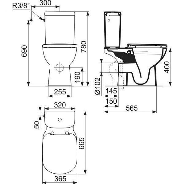 wc ideal standard sans bride finest set complet wc cu. Black Bedroom Furniture Sets. Home Design Ideas