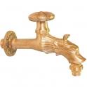 """Robinet antique pour fontaine - M 1/2"""" - M 3/4"""" - Laiton poli - Puteus"""
