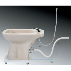 bidet escamotable sur roulettes g nie sanitaire. Black Bedroom Furniture Sets. Home Design Ideas