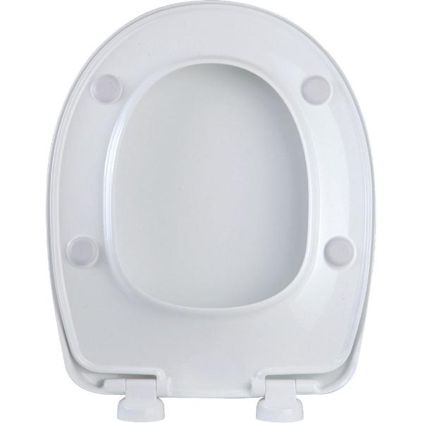 abattant wc blanc double spot classique dubourgel cazabox. Black Bedroom Furniture Sets. Home Design Ideas