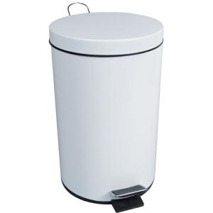 Poubelle à pédale - 3 L - blanche - JVD