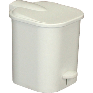 Poubelle carrée à pédale plastique - Gilac