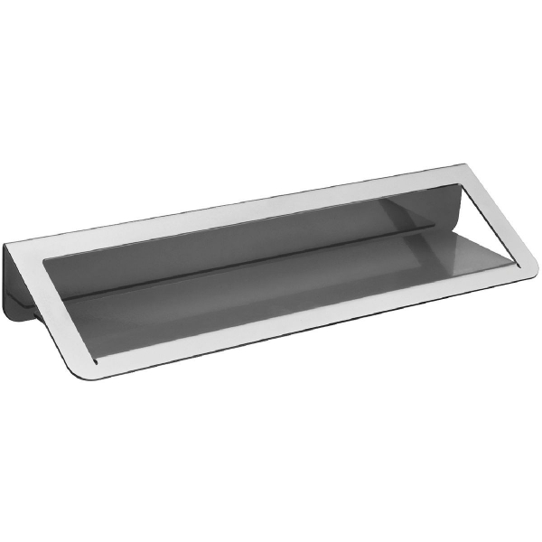 Tablette de lavabo grise 144 x 550 x 82 mm trinium pellet asc cazabox - Tablette pour lavabo ...