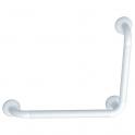 Barre d'appui coudée à 90° - 546,5 x 465,5 mm - Ø 33 mm - polyalu blanc - Pellet ASC