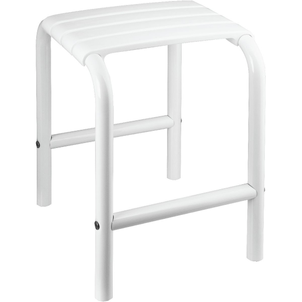 tabouret de douche blanc 335 x 385 x 485 mm pellet asc cazabox. Black Bedroom Furniture Sets. Home Design Ideas