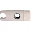 Curseur pour barre de douche blanc à molette - 19 mm - Sélection Cazabox