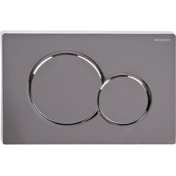 plaque de commande sigma 01 chrom geberit cazabox. Black Bedroom Furniture Sets. Home Design Ideas