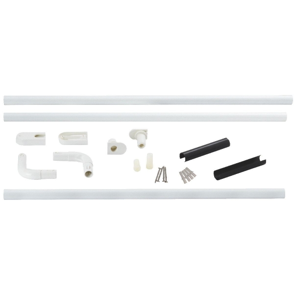 Support porte rideau d 39 angle universelle 25 mm for Barre rideau angle