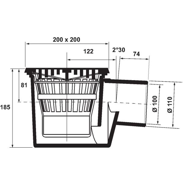 siphon de sol panier sable 100 mm nicoll cazabox. Black Bedroom Furniture Sets. Home Design Ideas