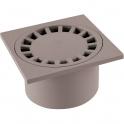 Siphon de sol PVC gris - 150 x 150 mm - Girpi