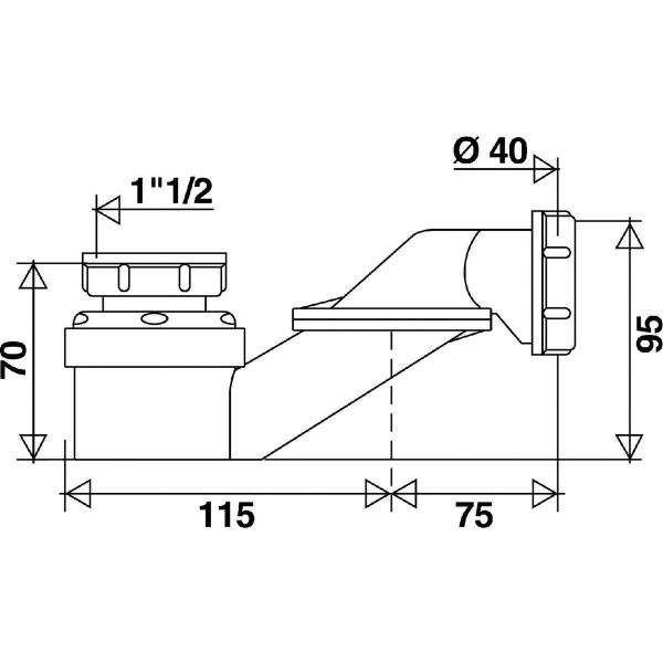 siphon de baignoire extra plat 1 1 2 40 mm. Black Bedroom Furniture Sets. Home Design Ideas