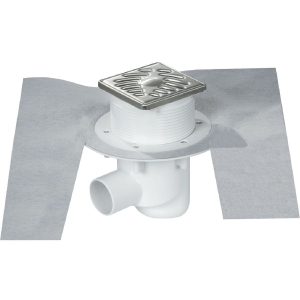 Siphon de douche carreler 100 x 100 mm sica 10ih for Siphon de douche nicoll