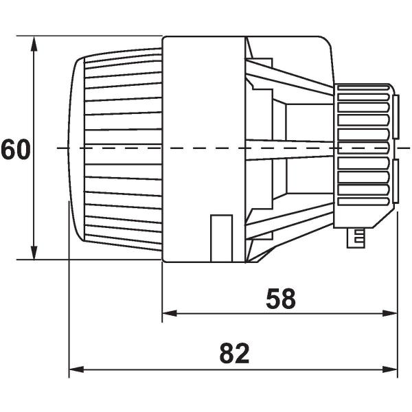 T te thermostatique de radiateur pour collectivit bulbe incorpor danfoss cazabox - Tete thermostatique radiateur ...