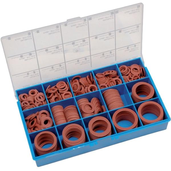 assortiment de joints fibres pour raccord coffret de 720 pi ces s lection cazabox cazabox. Black Bedroom Furniture Sets. Home Design Ideas