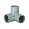 Adaptateur PVC gris coudé équerre 87°30 - Ø 40 mm - Triple emboîture - Girpi
