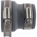 Raccord PVC gris réduit - Femelle Ø 40 - 32 mm - Multi-matériaux - Girpi