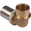 Raccord PER coudé 90° à sertir - PER / Cuivre Ø 12 mm - PB tub