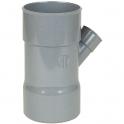 Culotte PVC gris 45° réduite - Ø 100 - 40 mm - Triple emboîture - Nicoll