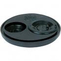Tampon de réduction élastomère noir 3 sorties universel - Femelle - Ø 100 - 50 - 40 - 32 mm - Nicoll