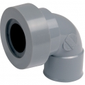 Adaptateur PVC gris coudé 87°30 - Ø 32 mm - Double emboîture - Nicoll