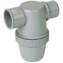 Siphon de parcours PVC gris horizontal - Mâle / femelle - Ø 32 mm - Nicoll