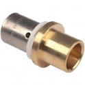 Raccord PER droit à sertir - PER / Cuivre Ø 12 mm - PB tub