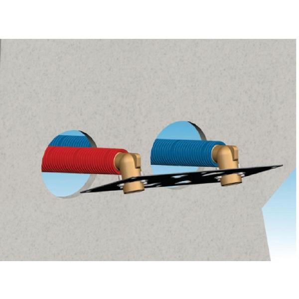 sortie de cloison double glissement entraxe 150 mm. Black Bedroom Furniture Sets. Home Design Ideas