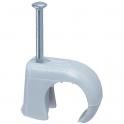 Attache à clous grise - Ø 10 à 14 mm - Multifix - Vendu par 100 - Legrand