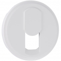 Enjoliveur blanc - Prise téléphonique simple RJ 45 - Céliane - Legrand