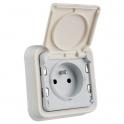 Prise blanche à encastrer - 2P+T - Connexion à bornes automatique -  Plexo  - Legrand