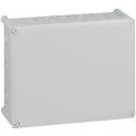 Boîte grise rectangulaire - 180 x 140 mm - 20 embouts - Presse étoupe - Plexo - Legrand