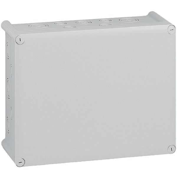 Bo te grise rectangulaire 180 x 140 mm 20 embouts presse toupe plexo legrand cazabox - Presse etoupe legrand ...