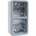 Boîtier 2 postes verticaux Plexo composable IP 55 - Legrand