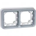 Support plaque grise composable - 2 postes - Plexo - Legrand