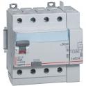 Interrupteur différentiel tétrapolaire DX³ ID - Type AC - 40 A - 5 modules - Connexio vis / auto -  Arrivée haut / départ bas -