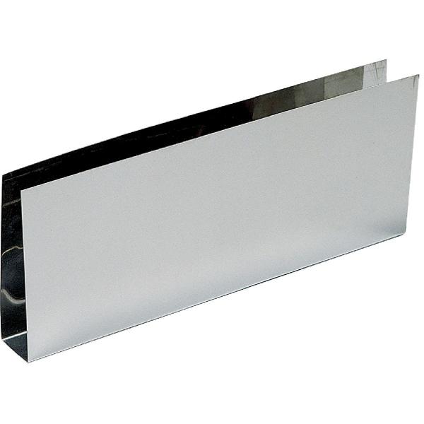 plinthe bas de porte nox brillant en u 730 x 150 mm duval cazabox. Black Bedroom Furniture Sets. Home Design Ideas