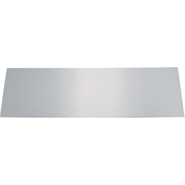 Plaque de propret inox brillant rectangulaire 730 x for Plaque de proprete porte