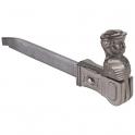Arrêt tête de bergère fonte noir - 95 mm - À sceller - Jardinier massard
