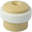 Butoir rond plastique beige creux - Ø 35 x 30 mm  - Civic industrie