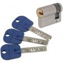 Demi cylindre varié nickelé - 32,5 x 10 mm - Integrator - Mul-T-lock