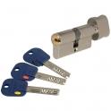 Cylindre à bouton varié nickelé - B33 x 33 mm - Integrator - Mul-T-lock