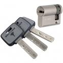 Demi cylindre varié nickelé - 31 x 10 mm - MT5 - Mul-T-lock