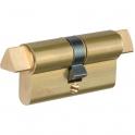 Cylindre 2 entrées laitonné - 30 x 30 mm - Thirard